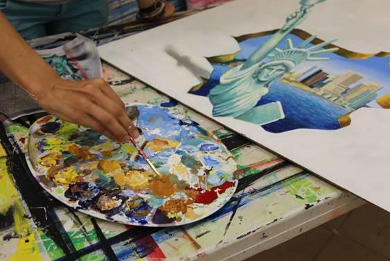 פסטיבל ציורי רצפה בתלת מימד בדיזנגוף סנטר